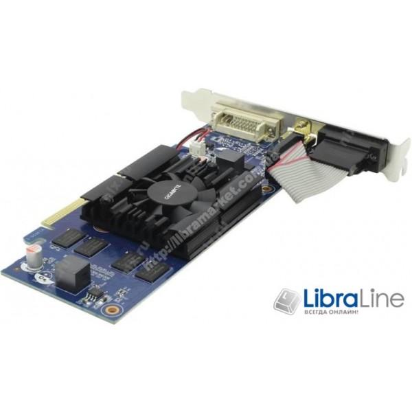 Видеокарта PCI-E Gigabyte GeForce GT210 1Gb LP 590MHz,GDDR3,1200MHz, 64bit  DVI, HDMI, VGA GV-N210D3-1GI