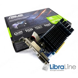 710-1-SL Видеокарта PCI-E Asus GeForce GT710 1Gb Silent GDDR3, 64 bit, DVI, HDMI, VGA