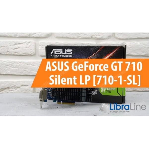 Видеокарта PCI-E Asus GeForce GT710 1Gb Silent GDDR3, 64 bit, DVI, HDMI, VGA 710-1-SL