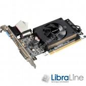 GV-N710D3-1GL Видеокарта  PCI-E Gigabyte GeForce GT710 1Gb silent GDDR3, 64bit,  DVI, HDMI, VGA