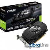 PH-GTX1050-2G Видеокарта PCI-E Asus GeForce GTX1050 2Gb GDDR5 DVI, HDMI, DP
