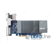 GT710-SL-1GD5-BRK Видеокарта PCI-E Asus GeForce GT710 1Gb GDDR5, 64bit  VGA, DVI, HDMI