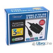 Конвертер Viewcon VE158 USB2.0 to IDE/SATA