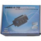 """Адаптер Cablexpert AUSI01 USB-IDE2.5""""/3.5"""", SATA , с внешним блоком питания"""
