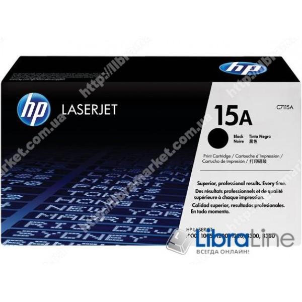 Купить C7115A, HP 15A, Лазерный картридж HP LaserJet, Черный