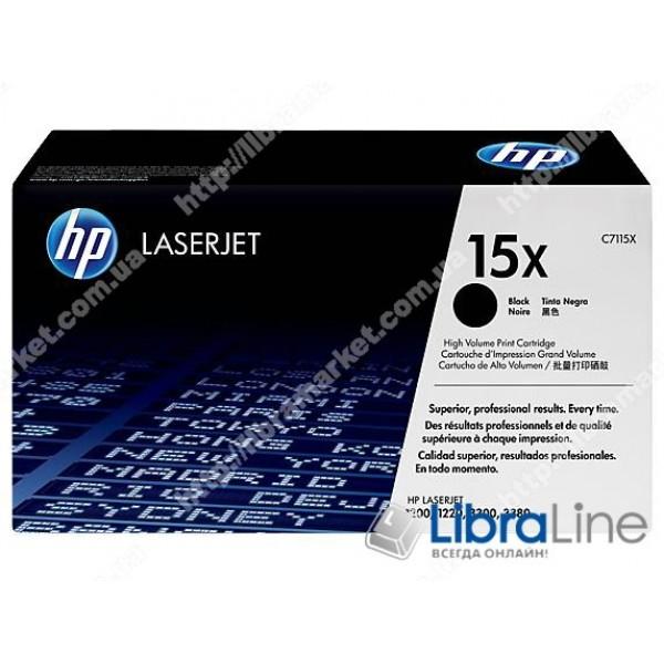 Купить C7115X, HP 15X, Лазерный картридж HP LaserJet увеличенной емкости, Черный