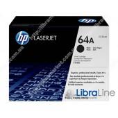 CC364A, HP 64A, Лазерный картридж HP LaserJet, Черный