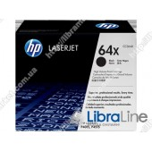 CC364X, HP 64X, Лазерный картридж HP LaserJet увеличенной емкости, Черный