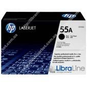 CE255A, HP 55A, Оригинальный лазерный картридж HP LaserJet, Черный
