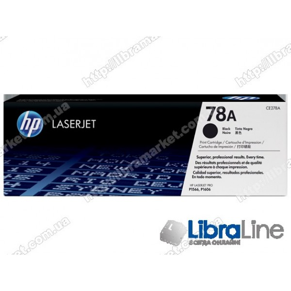 Купить CE278A, HP 78A, Лазерный картридж HP LaserJet, Черный