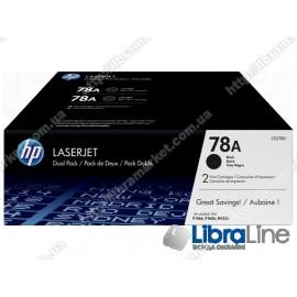Оригинальные лазерные картриджи HP LaserJet, Черные 2шт/уп CE278AF, HP 78A