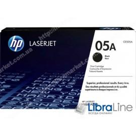 CE505A, HP 05A, Оригинальный лазерный картридж HP LaserJet, Черный