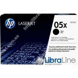 Лазерный картридж HP LaserJet увеличенной емкости, Черный CE505X, HP 05X