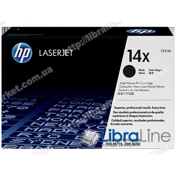 Купить CF214X, HP 14X, Лазерный картридж HP LaserJet увеличенной емкости, Черный