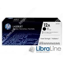 Q2612AF, HP 12A, Упаковка 2шт, Оригинальные лазерные картриджи HP LaserJet, Черные