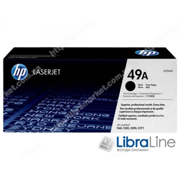 Q5949A, HP 49A, Оригинальный лазерный картридж HP LaserJet, Черный