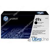 Q5949X, HP 49X, Лазерный картридж HP LaserJet увеличенной емкости, Черный