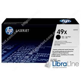 Q5949X, HP 49X, Оригинальный лазерный картридж HP LaserJet увеличенной емкости, Черный