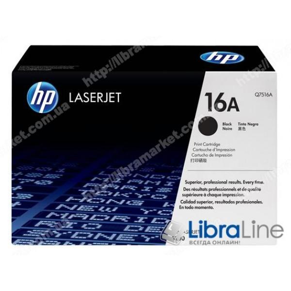 Q7516A, HP 16A, Оригинальный лазерный картридж HP LaserJet, Черный