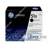 Q7551X, HP 51X, Лазерный картридж HP LaserJet увеличенной емкости, Черный