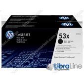 Оригинальные лазерные картриджи HP LaserJet увеличенной емкости, Черные Q7553XD, HP 53X 2 шт/уп