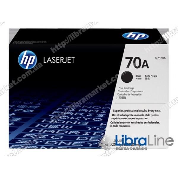 Q7570A, HP 70A, Оригинальный лазерный картридж HP LaserJet, Черный