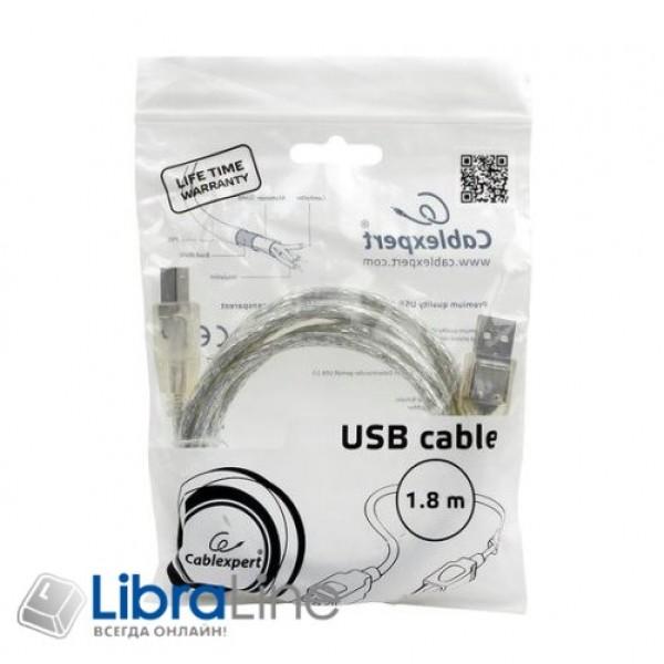 Кабель для принтера Cablexpert CCF-USB2-AMBM-TR-6, 1.8 м, с ферритовым фильтром