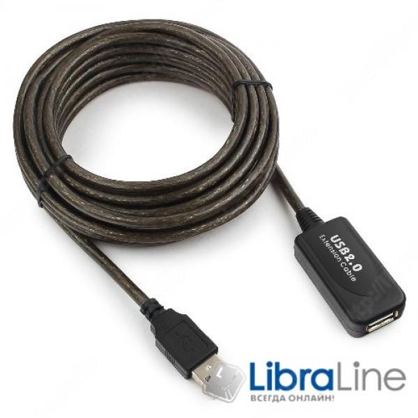 Активный кабель удлинитель Cablexpert UAE-01-5M, USB 2.0