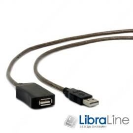 Активный USB кабель удлинитель Cablexpert UAE-01-5M, USB 2.0