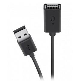 Кабель USB 2.0 BELKIN (AM/AF) EXT 1.8м, Black F3U153BT1.8M