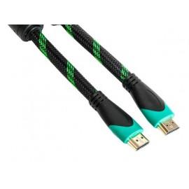 Кабель PowerPlant HDMI-HDMI 7 м, позолоченные коннекторы, v2.0, Double ferrites Highspeed KD00AS1247