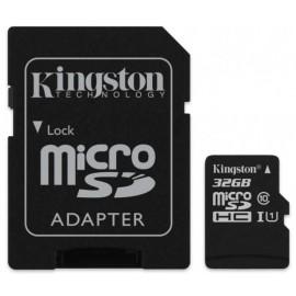 Карта памяти Kingston 32GB microSDHC C10 UHS-I R80MB/s + SD адаптер SDCS/32GB