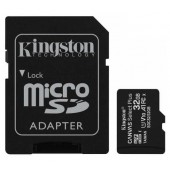 Карты памяти Kingston 32GB microSDHC C10 UHS-I R100MB/s Canvas Select Plus + SD SDCS2/32GB