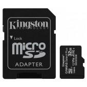 Карты памяти Kingston 32GB microSDHC C10 UHS-I R100MB/s Canvas Select Plus + SD SDCS2/32GB