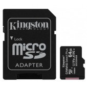 Карта памяти microSDXC+SD 64Gb UHC-I C10 Kingston (SDCS2/64GB)
