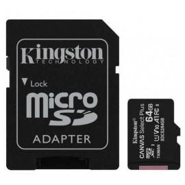 Карта памяти microSDXC+SD 64Gb UHC-I C10 Kingston SDCS2/64GB