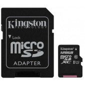 Карта памяти Kingston microSDXC 128GB C10 UHS-I R100MB/s Canvas Select Plus + SD SDCS2/128GB