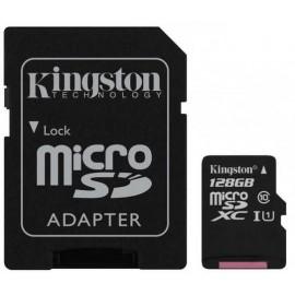 Карта памяти Kingston microSDXC 128GB C10 UHS-I R100MB/s Canvas Select Plus + SD SDCS2/128GB