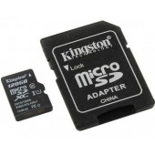 Карта памяти microSDXC+SD 128Gb class 10 USH-I Kingston (SDCS/128GB)