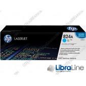 Лазерный картридж HP LaserJet, Голубой CB381A, HP 824A