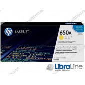 CE272A, HP 650A, Лазерный картридж HP LaserJet, Желтый
