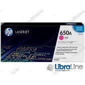 CE273A, HP 650A, Оригинальный лазерный картридж HP LaserJet, Пурпурный