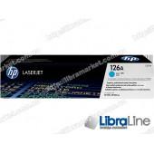 CE311A, HP 126A, Оригинальный лазерный картридж HP LaserJet, Голубой