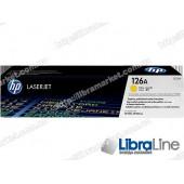 CE312A, HP 126A, Лазерный картридж HP LaserJet, Желтый