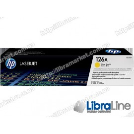 CE312A, HP 126A, Оригинальный лазерный картридж HP LaserJet, Желтый