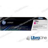 CE313A, HP 126A, Оригинальный лазерный картридж HP LaserJet, Пурпурный
