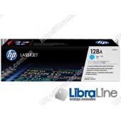 CE321A, HP 128A, Оригинальный лазерный картридж HP LaserJet, Голубой