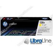 CE322A, HP 128A, Оригинальный лазерный картридж HP LaserJet, Желтый