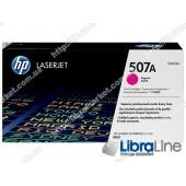 CE403A, HP 507A, Оригинальный лазерный картридж HP LaserJet, Пурпурный