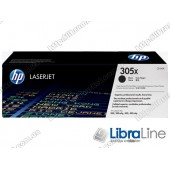 CE410X, HP 305X, Лазерный картридж HP LaserJet увеличенной емкости, Черный